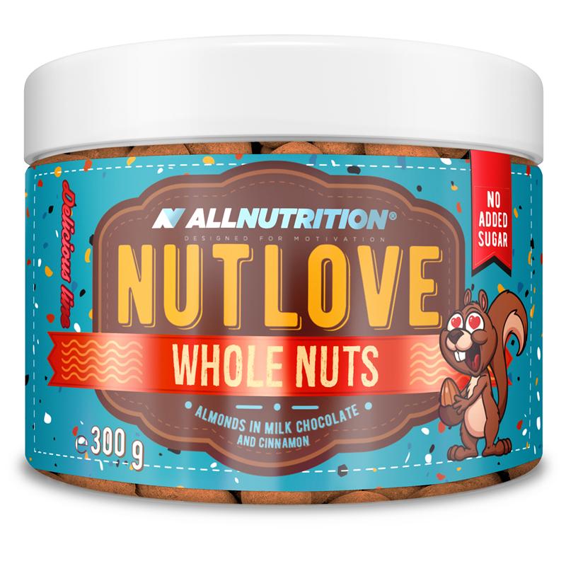 ALLNUTRITION NUTLOVE WHOLENUTS - Migdały W Mlecznej Czekoladzie Z Cynamonem