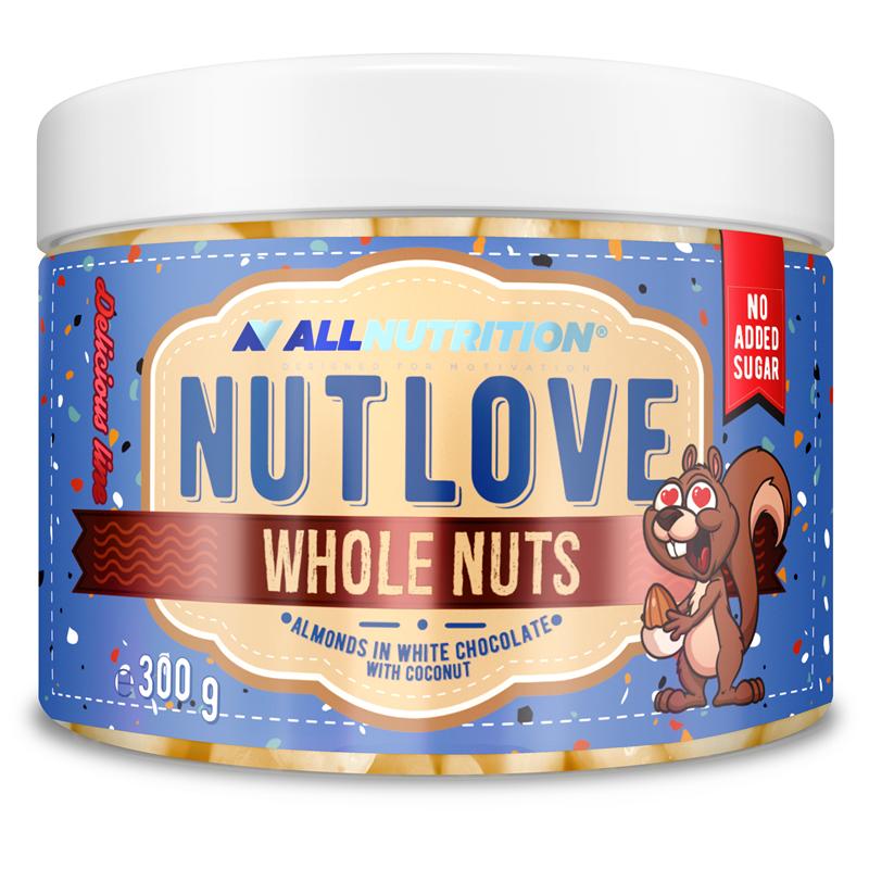 ALLNUTRITION Nutlove Wholenuts - Migdały W Białej Czekoladzie Z Kokosem
