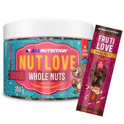 Nutlove Wholenuts - Migdały W Ciemnej Czekoladzie 300g+FRUTILOVE WHOLE FRUITS 30g GRATIS