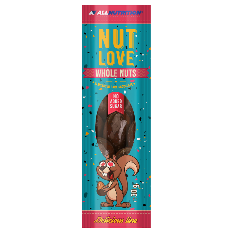 ALLNUTRITION Nutlove Wholenuts - Migdały W Ciemnej Czekoladzie