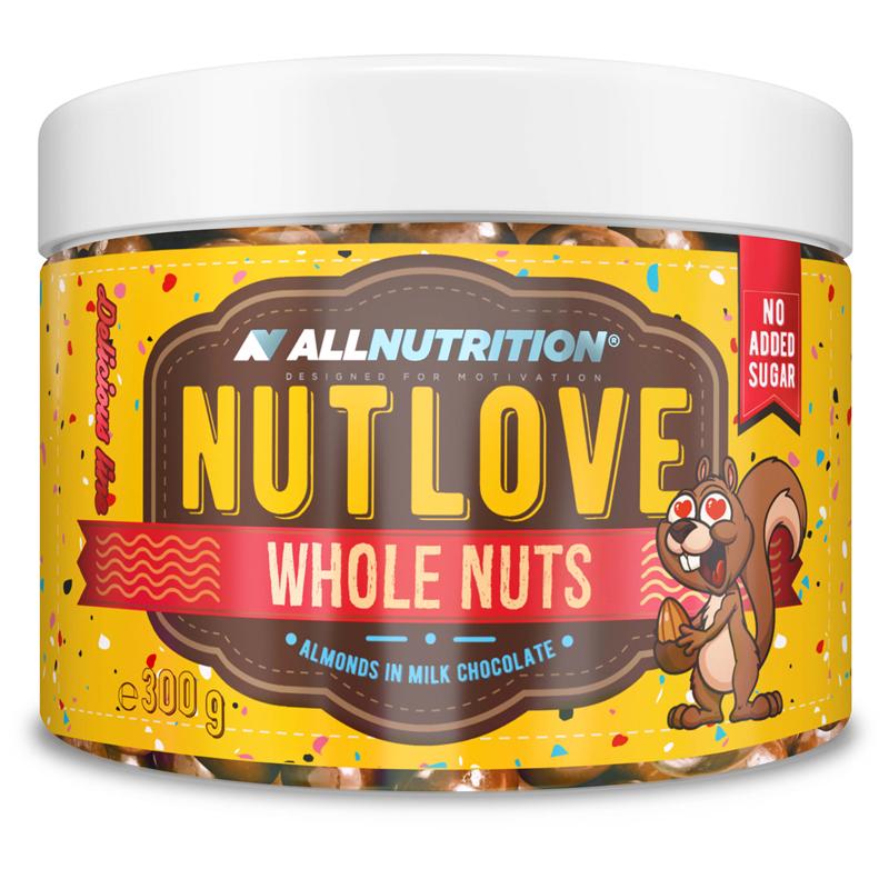 Nutlove Wholenuts - Migdały W Mlecznej Czekoladzie 300g+150g Gratis