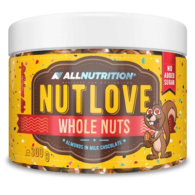 Nutlove Wholenuts - Migdały W Mlecznej Czekoladzie 300g