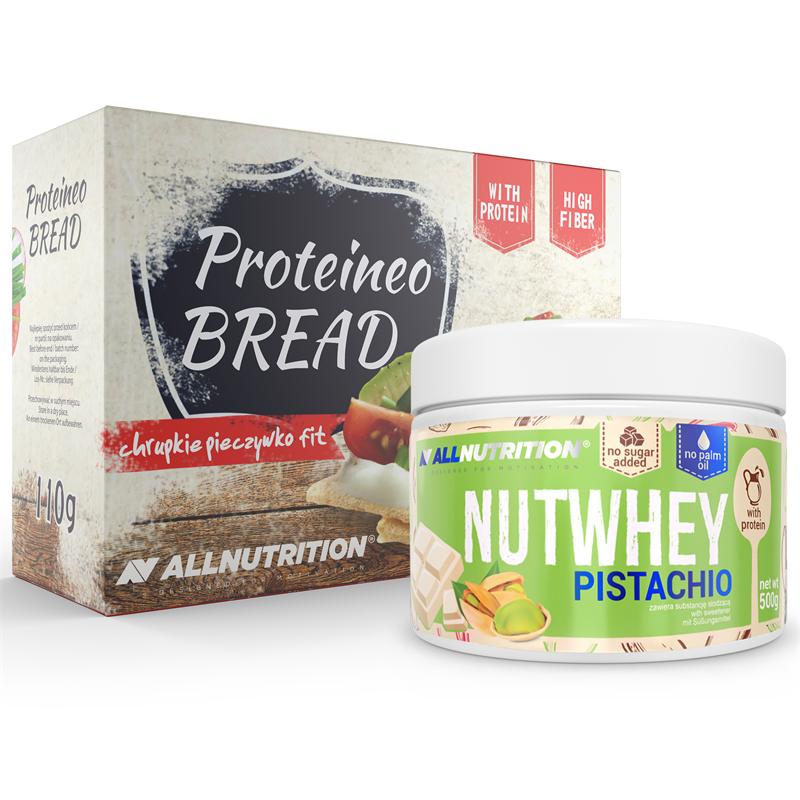 ALLNUTRITION Nutwhey Pistachio 500g + Proteineo Bread 110g GRATIS