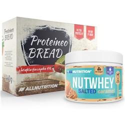 Nutwhey Salted Caramel 500g + Proteineo Bread 110g GRATIS