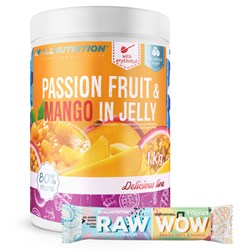 Passion Fruit & Mango In Jelly 1000g + Raw WoW Bar 2x35g GRATIS