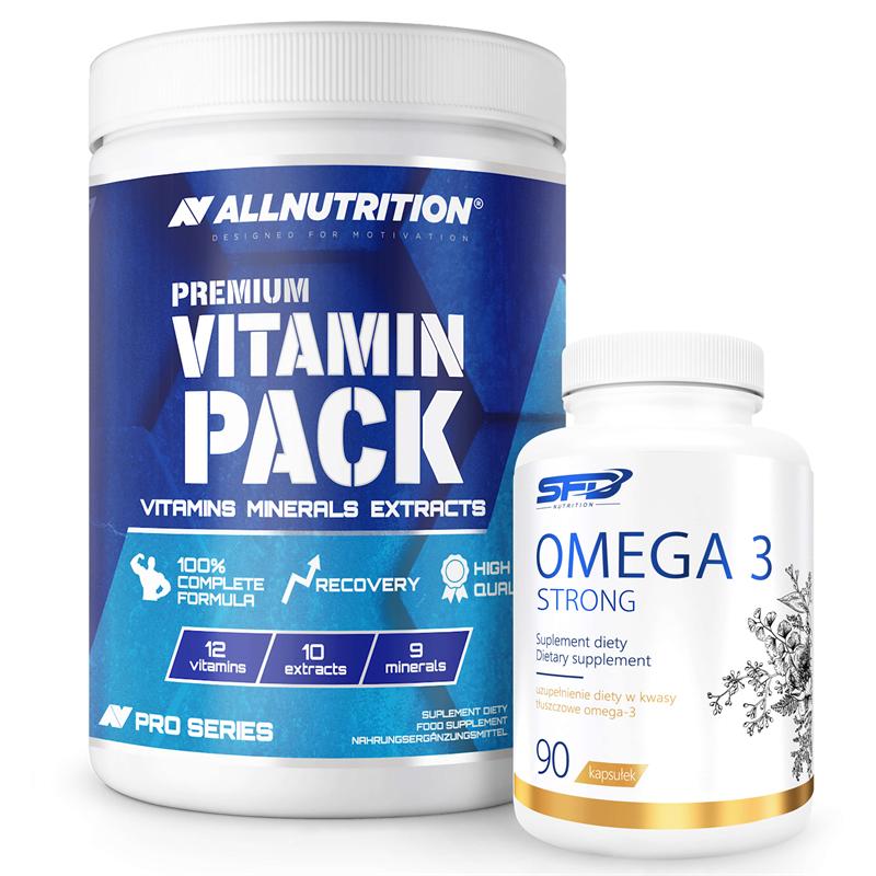 ALLNUTRITION Premium Vitamin Pack 280tab + Omega 3 Strong 90softgels