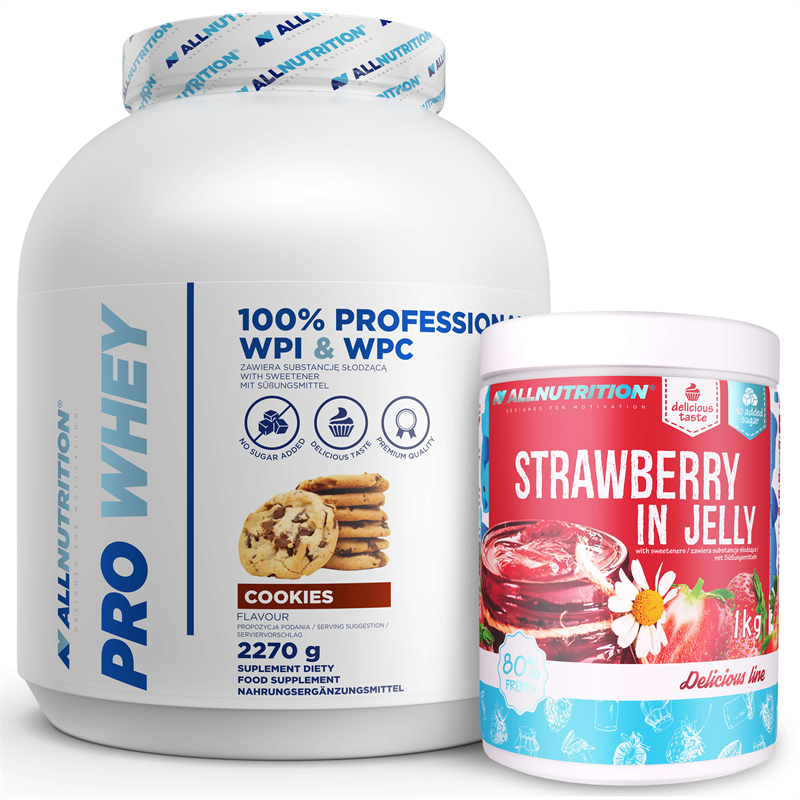 ALLNUTRITION Pro Whey 2270g + Strawberry in Jelly 1000g