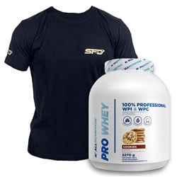 Pro Whey 2270g + T-shirt Athletic Czarny