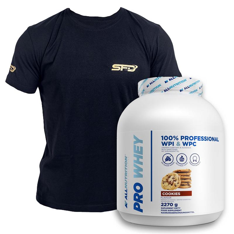 ALLNUTRITION Pro Whey 2270g + T-shirt Athletic Czarny