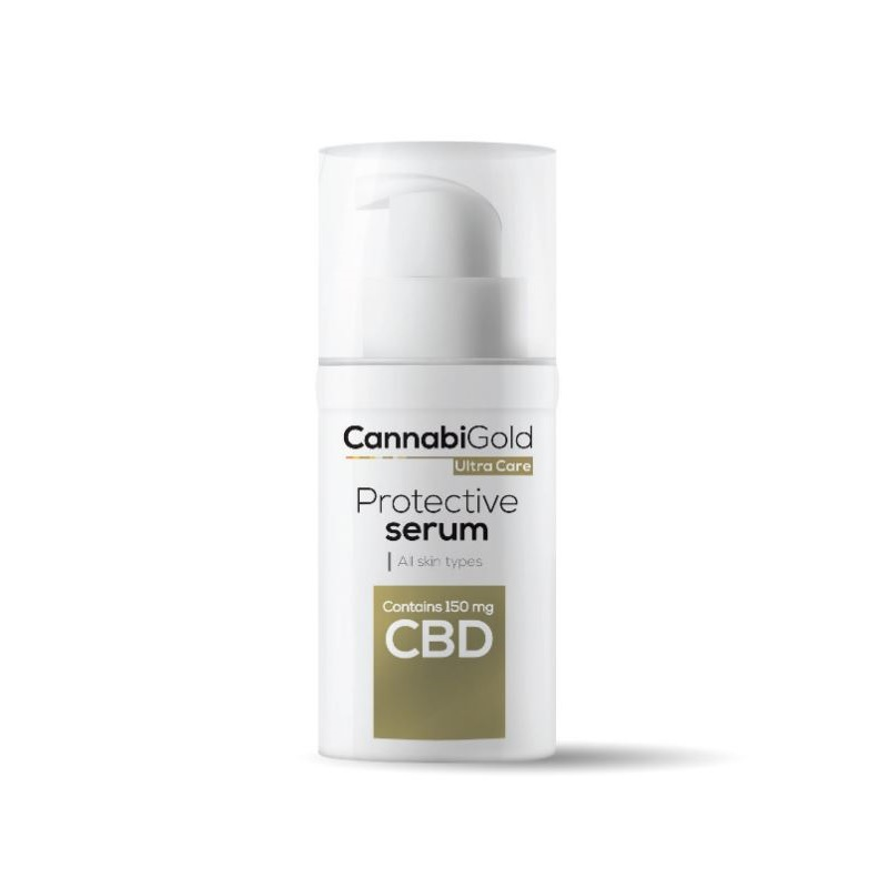 CannabiGold Protective Serum - Wszystkie rodzaje skóry