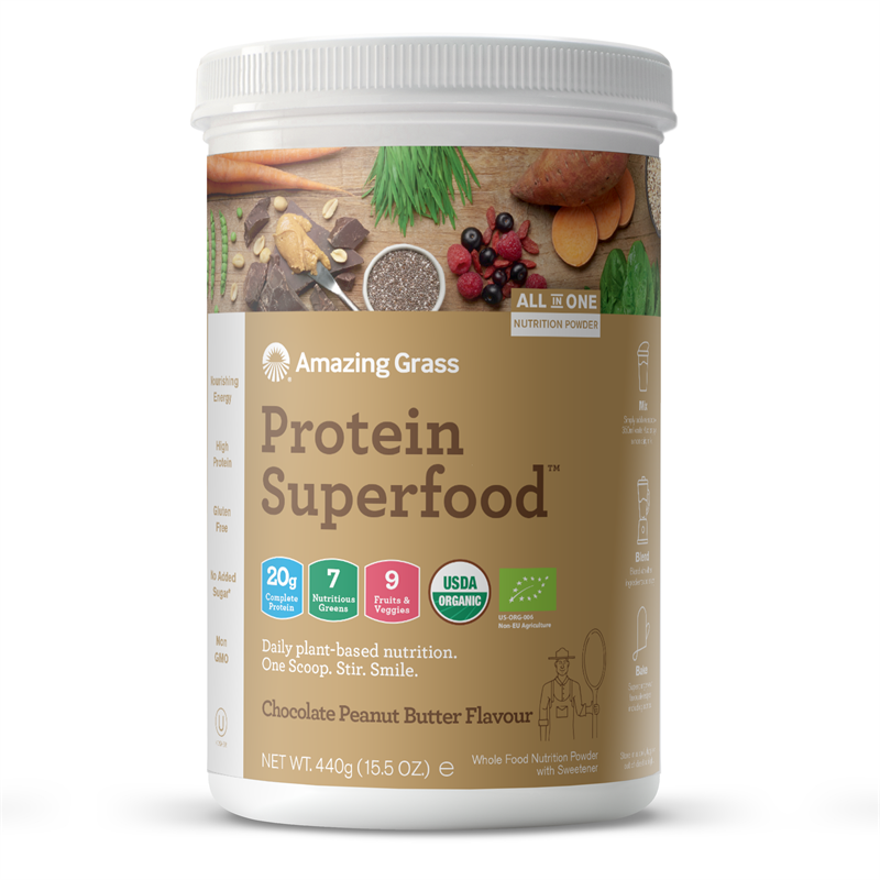 Amazing Grass Protein Superfood Chocolate Peanut Butter