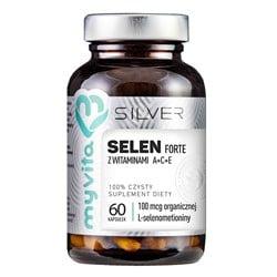 Selen Forte z witaminami A+C+E Silver Pure