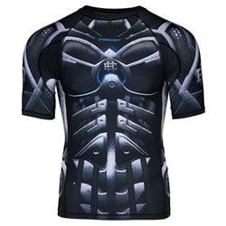 Short Sleeve Rashguard Cyber Knight Black