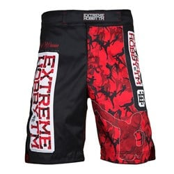 Spodenki Grappling Red Warrior Black