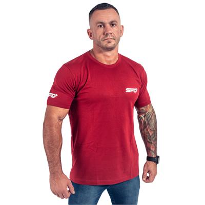 T-Shirt Athletic Bordowy