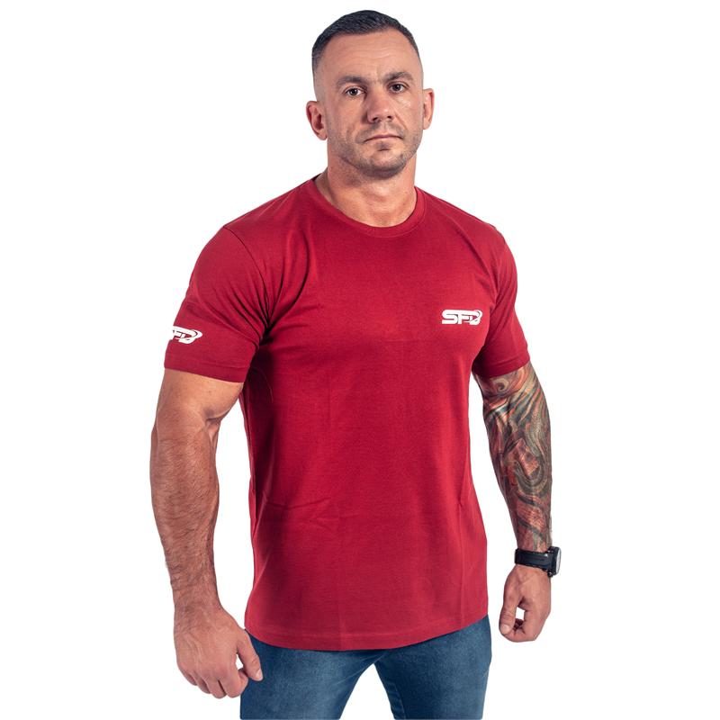 SFD NUTRITION T-Shirt Athletic Bordowy