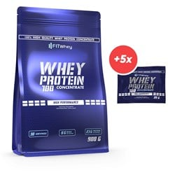Whey Protein 100 Concentrate 900g + 5x Whey Protein 100 Concentrate 20g GRATIS