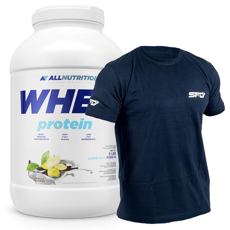 ALLNUTRITION Whey Protein 4080g + T-Shirt Athletic Granatowy GRATIS