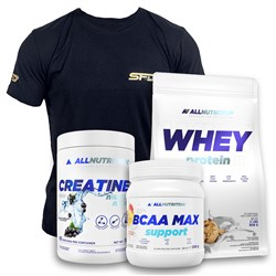Whey Protein 908g+BCAA Max 500g+Creatine 500g+T-shirt