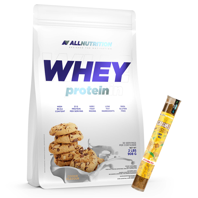 ALLNUTRITION Whey Protein 908g + Caramel Seeds 70g GRATIS
