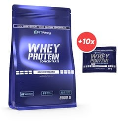 Whey Protein Concentrate 2000g + 10x Whey Protein 100 Concentrate 20g GRATIS