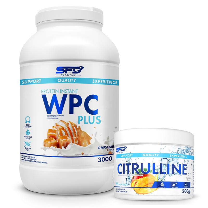 SFD NUTRITION Wpc Protein Plus Limited 3000g + Citrulline 200g GRATIS