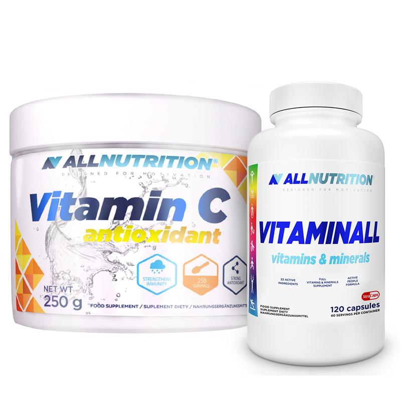 ALLNUTRITION VitaminALL Vitamins & Minerals 120kaps + Vitamin C 250g Gratis