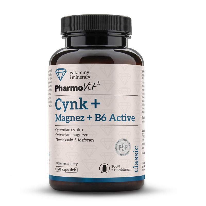 Pharmovit Cynk + Magnez + B6 Active