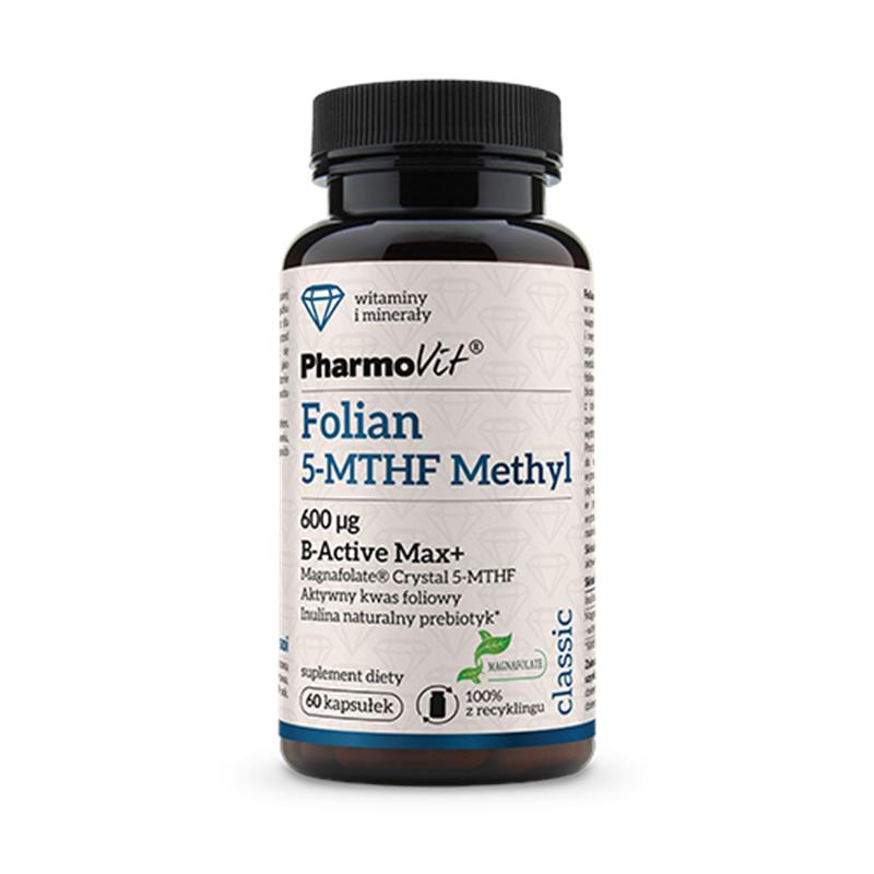 Pharmovit Folian 5-MTHF Methyl 600 µg B-ACTIVE MAX+