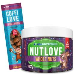 Nutlove Wholenut - Arachidy W Ciemnej Czekoladzie 300g + Coffilove Ziarna Kawy W Mlecznej Czekoladzi