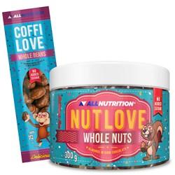 Nutlove Wholenuts - Migdały W Ciemnej Czekoladzie 300g + Coffilove Ziarna Kawy W Mlecznej Czekoladzi