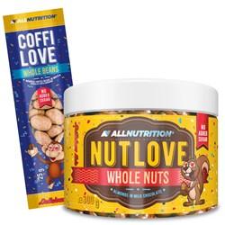 Nutlove Wholenuts - Migdały W Mlecznej Czekoladzie 300g + Coffilove Ziarna Kawy W Białej Czekoladzie