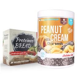 Peanut Cream with CHIA SEEDS 1000 g + Proteino Bread 110g GRATIS