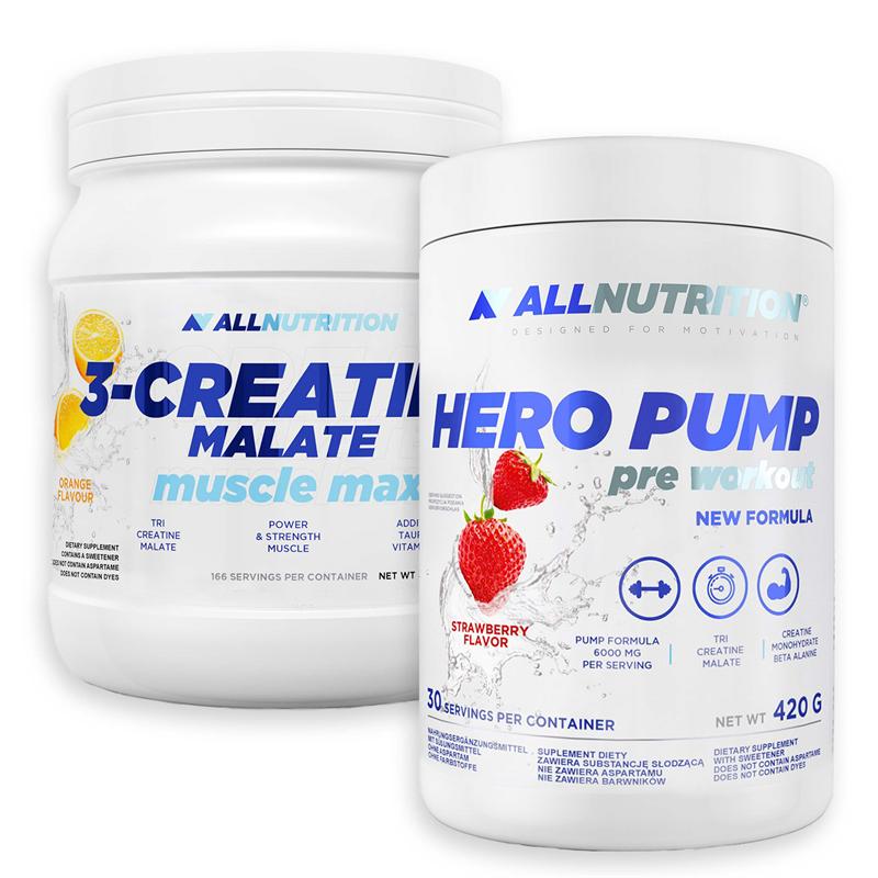 ALLNUTRITION Hero Pump 420g + 3-Creatine Malate 500g