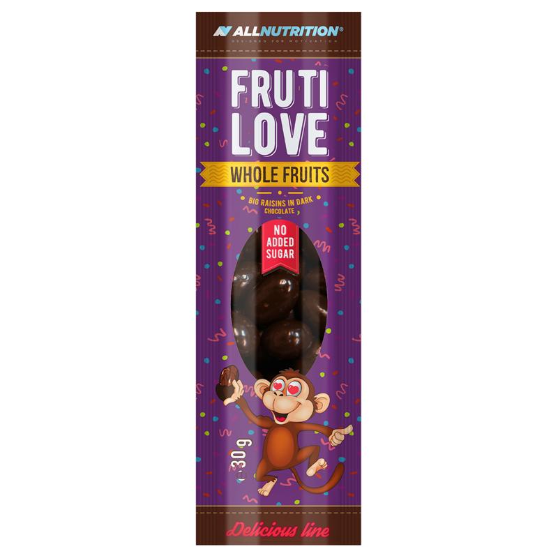 ALLNUTRITION FRUTILOVE Whole Fruits - Duże Rodzynki W Ciemnej Czekoladzie