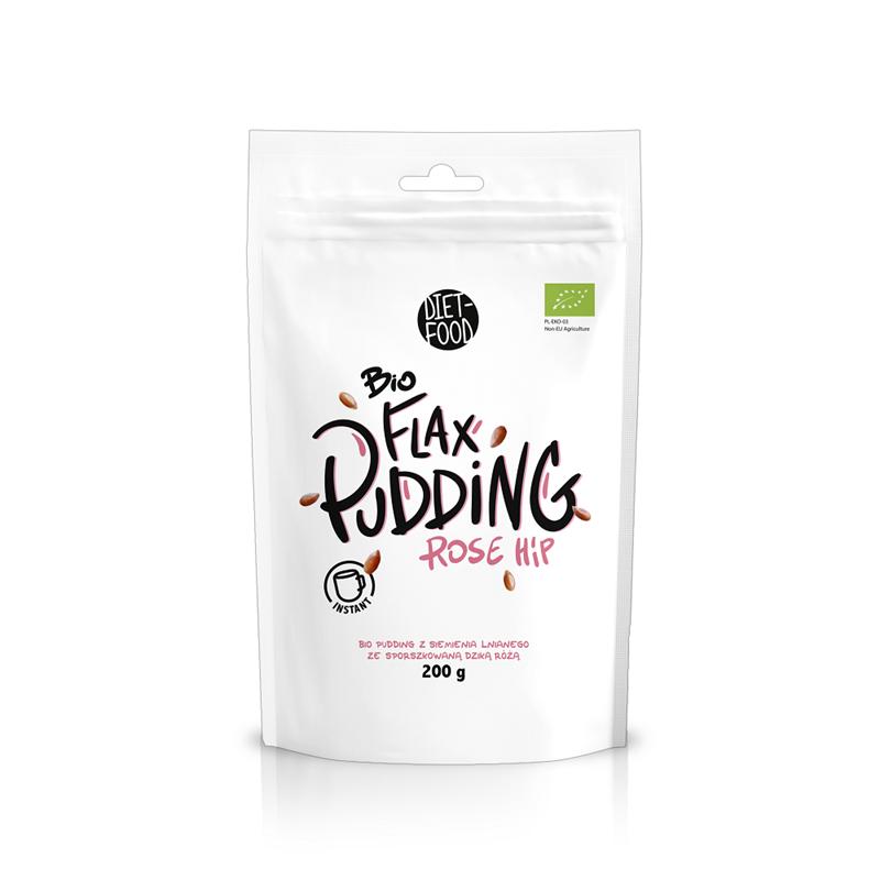 Diet Food Bio Pudding z Dziką Różą Instant Flax