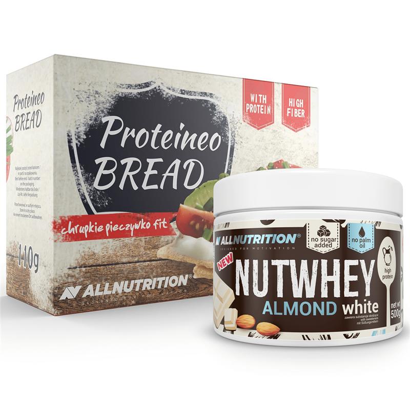 ALLNUTRITION Nutwhey Almond White 500g +  Proteineo Bread 110g GRATIS