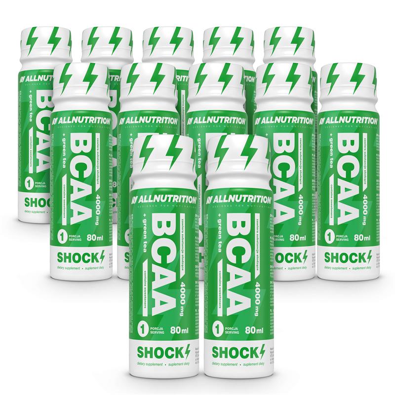 ALLNUTRITION 10 + 2 GRATIS BCAA+Green Tea Shock Shot 80ml