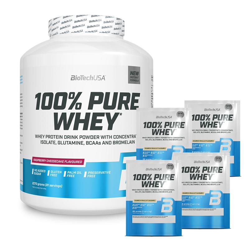 BioTechUSA 100% Pure Whey 2270g + 4x 100% Pure Whey 28g Gratis