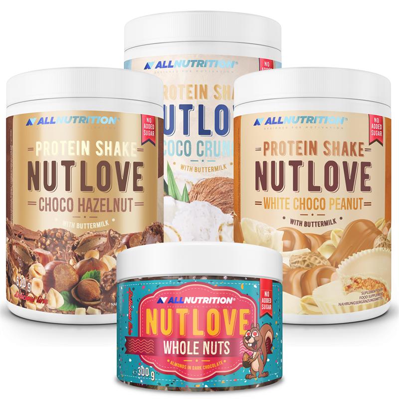 ALLNUTRITION 3x NUTLOVE Protein Shake 630g + Nutlove Wholenuts 300g GRATIS