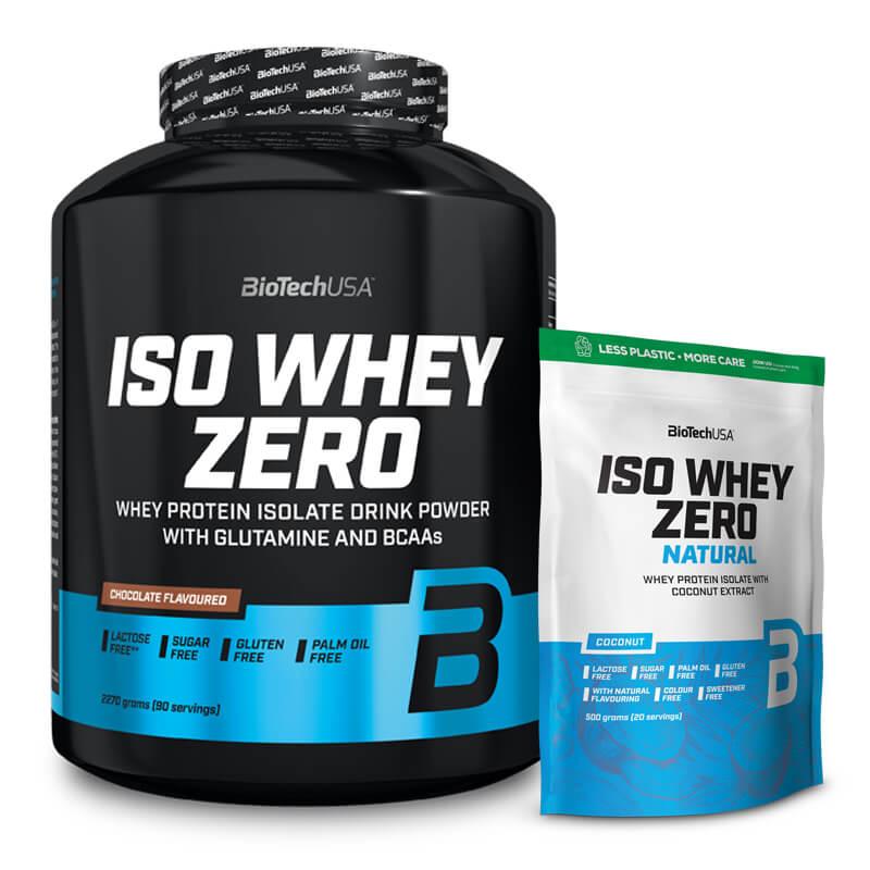 BioTechUSA Iso Whey Zero 2270G + Iso Whey Zero Natural 500G GRATIS