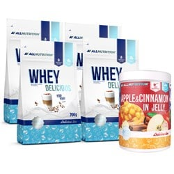 4x Delicious Protein 700g + Apple Cinnamon in Jelly 1000g GRATIS