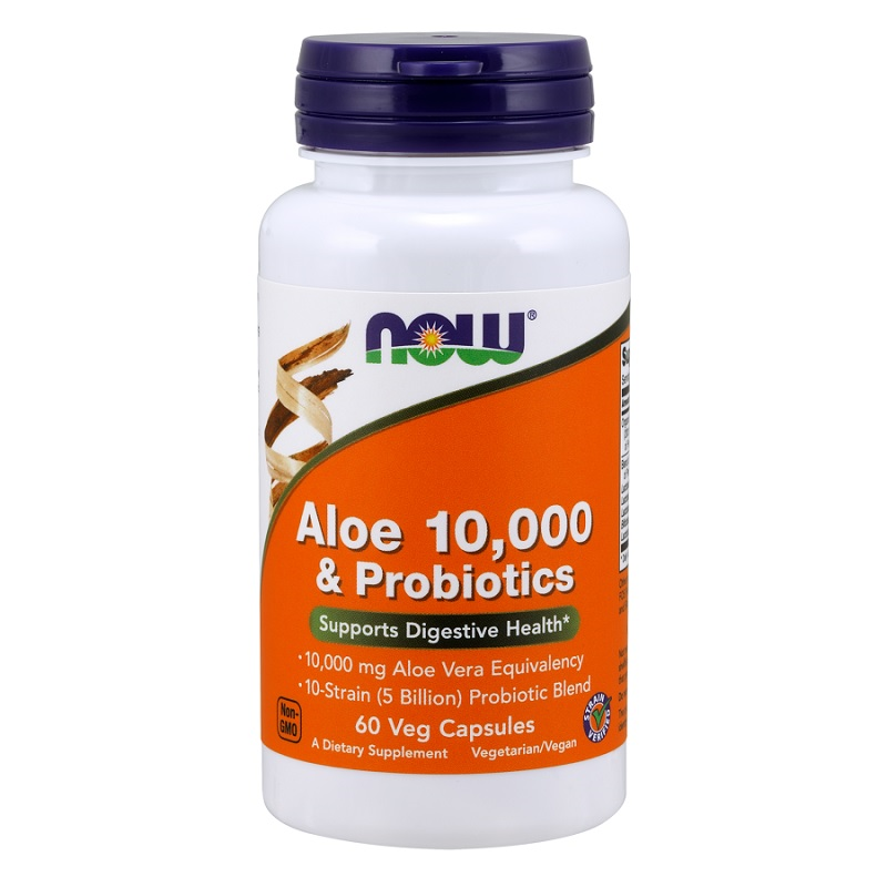 Now Aloe 10 000 & Probiotics