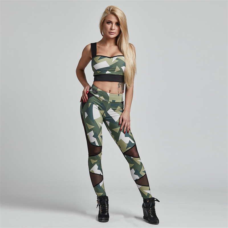 Gym Provocateur LEGGINSY BRAVE MILITARY GREEN