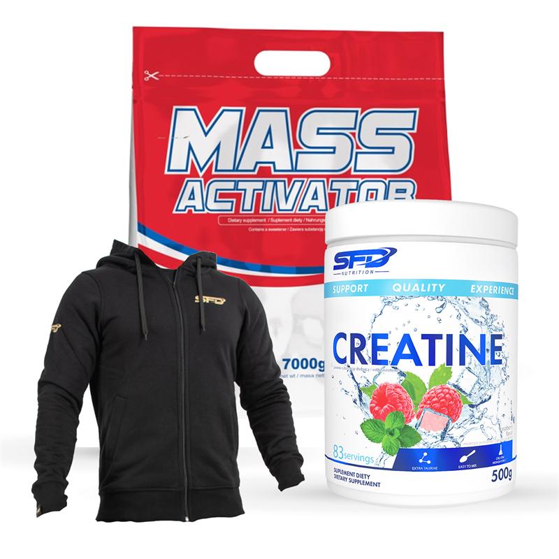 SFD NUTRITION Mass Activator + Creatine + Bluza Męska