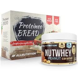 Nutwhey Peanut Caramel 500g + Proteineo Bread 110g GRATIS