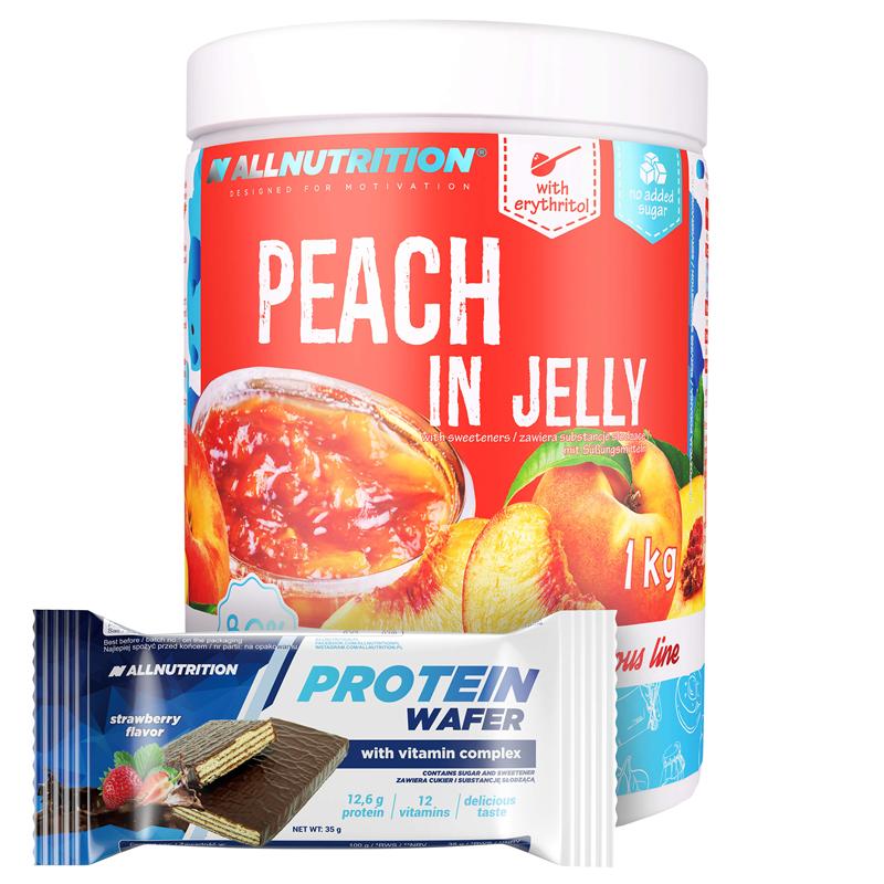 ALLNUTRITION Peach in Jelly 1000g + Protein Wafer 35g