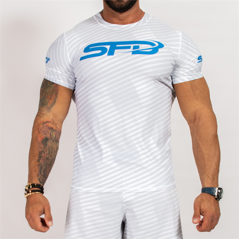 SFD NUTRITION Rashguard Short Sleeve White