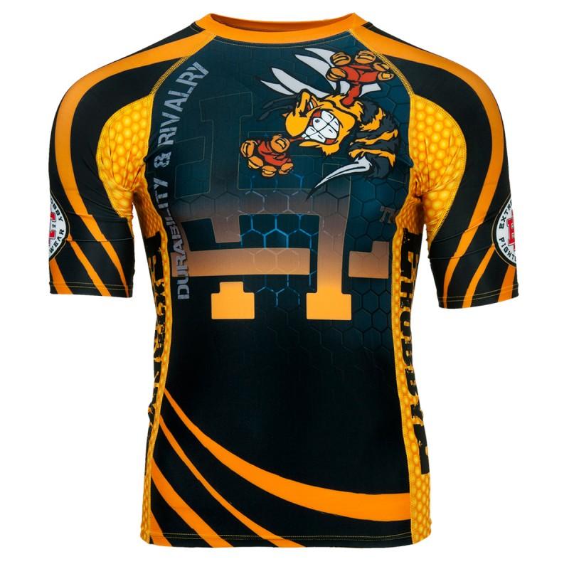 Extreme Hobby Short Sleeve Rashguard Angry Wasp Black