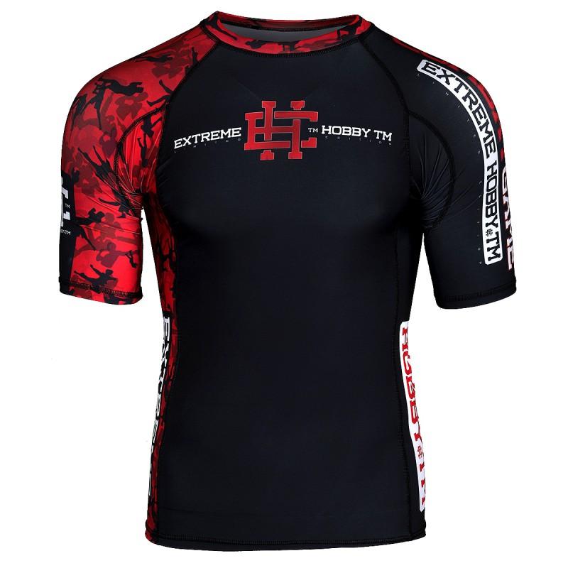 Extreme Hobby Short Sleeve Rashguard Red Warrior Black